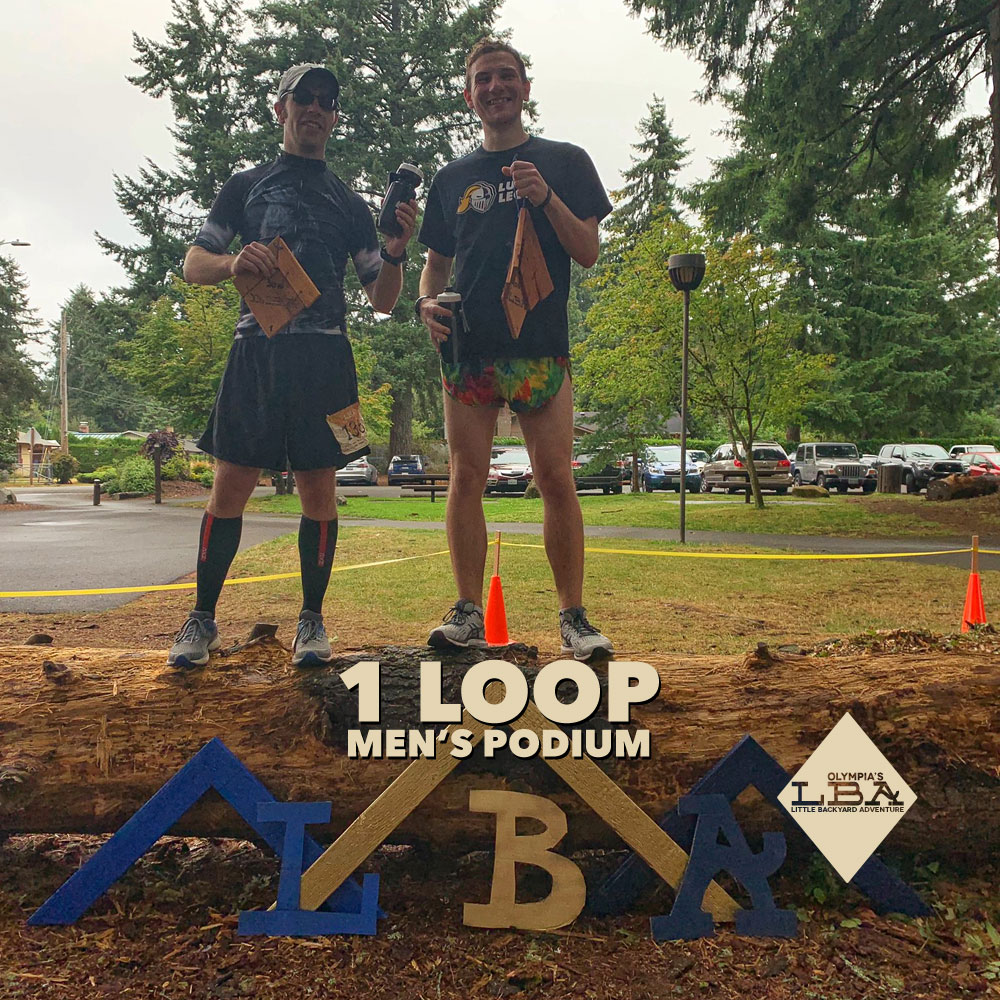 Men's 1 loop podium