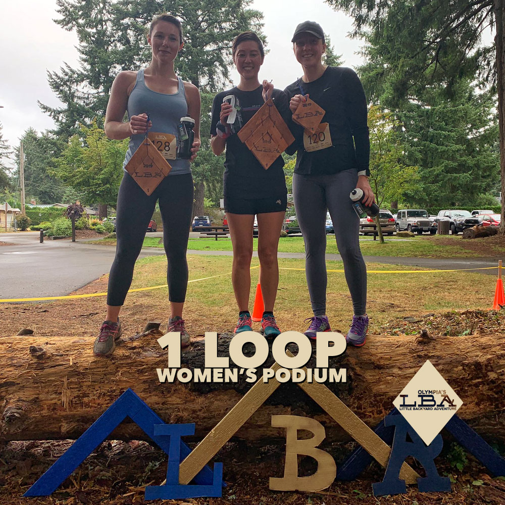 Women's 1 loop podium