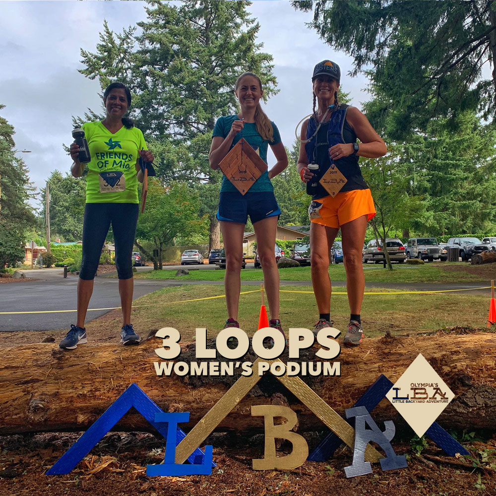 Women's 5 loops podium