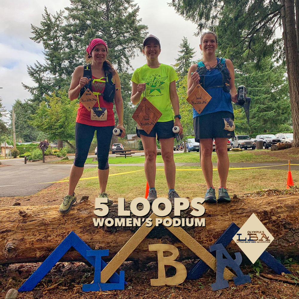 Women's 5 loop podium